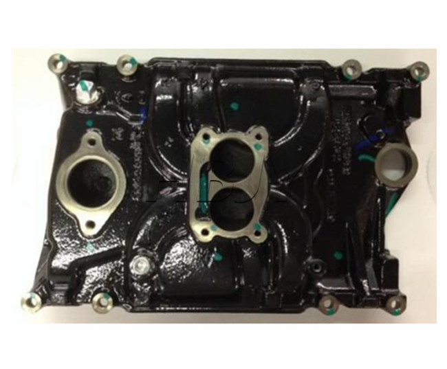 GM Cast Iron 4.3L/V6 Marine 2bbl Intake Manifold, Volvo/OMC/Merc OEM #3855805